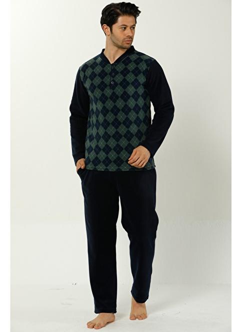 Akbeniz Welsoft Erkek Pijama Takım Lacivert